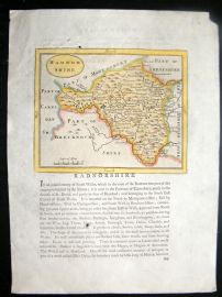 Seller & Grose C1780 Antique Map. Radnorshire, Wales